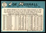 1965 Topps #312  Joe Nuxhall  Back Thumbnail