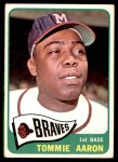 1965 Topps #567  Tommie Aaron  Front Thumbnail