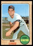1968 Topps #291  Dick Lines  Front Thumbnail