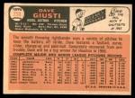 1966 Topps #258  Dave Giusti  Back Thumbnail