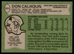 1978 Topps #281  Don Calhoun  Back Thumbnail