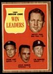 1962 Topps #57   -  Whitey Ford / Jim Bunning / Frank Lary / Steve Barber AL Win Leaders Front Thumbnail
