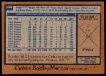 1978 Topps #590  Bobby Murcer  Back Thumbnail