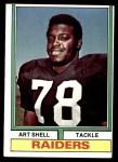 1974 Topps #272  Art Shell  Front Thumbnail