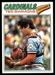 1977 Topps #470  Ted Simmons  Front Thumbnail