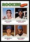 1977 Topps #488   -  Jack Clark / Ruppert Jones / Lee Mazzilli / Dan Thomas Rookie Outfielders Front Thumbnail