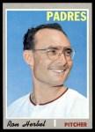 1970 Topps #526  Ron Herbel  Front Thumbnail