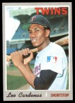 1970 Topps #245  Leo 'Chico' Cardenas  Front Thumbnail