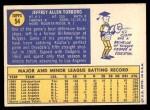 1970 Topps #54  Jeff Torborg  Back Thumbnail