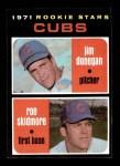 1971 Topps #121   -  Jim Dunegan / Roe Skidmore Cubs Rookies Front Thumbnail