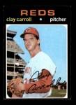 1971 Topps #394  Clay Carroll  Front Thumbnail