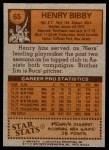 1978 Topps #65  Henry Bibby  Back Thumbnail