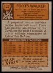 1978 Topps #127  Foots Walker  Back Thumbnail