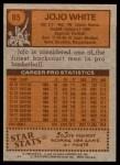 1978 Topps #85  Jo Jo White  Back Thumbnail