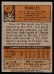 1978 Topps #97  Ron Lee  Back Thumbnail