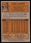 1978 Topps #125  Bob Lanier  Back Thumbnail