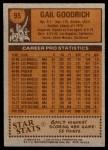 1978 Topps #95  Gail Goodrich  Back Thumbnail