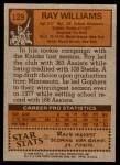 1978 Topps #129  Ray Williams  Back Thumbnail