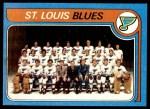 1979 Topps #257   Blues Team Checklist Front Thumbnail