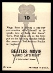 1964 Topps Beatles Movie #10   Ringo on the Phone Back Thumbnail