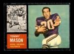 1962 Topps #94  Tommy Mason  Front Thumbnail