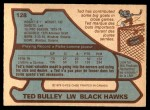 1979 O-Pee-Chee #128  Ted Bulley  Back Thumbnail