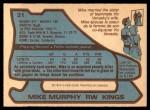 1979 O-Pee-Chee #31  Mike Murphy  Back Thumbnail