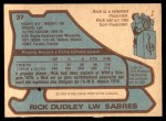 1979 O-Pee-Chee #37  Rick Dudley  Back Thumbnail