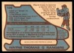 1979 O-Pee-Chee #126  Wayne Thomas  Back Thumbnail