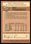 1978 O-Pee-Chee #145  Wilf Paiement  Back Thumbnail