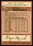 1978 O-Pee-Chee #258  Wayne Merrick  Back Thumbnail