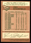 1978 O-Pee-Chee #352  Fred Stanfield  Back Thumbnail