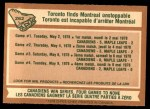 1978 O-Pee-Chee #262   Stanley Cup Semi-finals - Canadiens Sweep Maple Leafs Back Thumbnail
