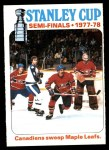 1978 O-Pee-Chee #262   Stanley Cup Semi-finals - Canadiens Sweep Maple Leafs Front Thumbnail