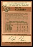 1978 O-Pee-Chee #346  Ralph Klassen  Back Thumbnail