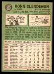 1967 Topps #535  Donn Clendenon  Back Thumbnail