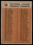 1972 Topps #178   -  Paul Schaal In Action Back Thumbnail