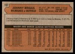 1972 Topps #197  Johnny Briggs  Back Thumbnail