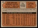 1972 Topps #393  Curt Motton  Back Thumbnail