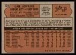 1972 Topps #728  Gail Hopkins  Back Thumbnail