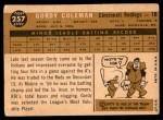 1960 Topps #257  Gordy Coleman  Back Thumbnail