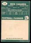 1960 Topps #13  Rick Casares  Back Thumbnail