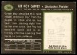 1969 Topps #146  Lee Roy Caffey  Back Thumbnail