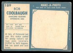 1961 Topps #189  Bob Coolbaugh  Back Thumbnail