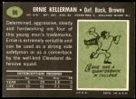 1969 Topps #96  Ernie Kellerman  Back Thumbnail