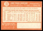 1964 Topps #392  Jim Pagliaroni  Back Thumbnail