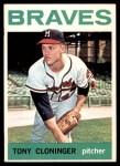 1964 Topps #575  Tony Cloninger  Front Thumbnail