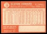 1964 Topps #100  Elston Howard  Back Thumbnail