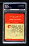 1963 Fleer #47  Len Dawson  Back Thumbnail