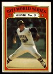 1972 O-Pee-Chee #227   -  Nelson Briles 1971 World Series - Game #5 Front Thumbnail